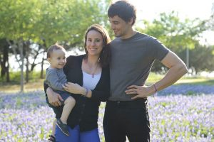 My family saying hello from a blue bonnet field in Texas.