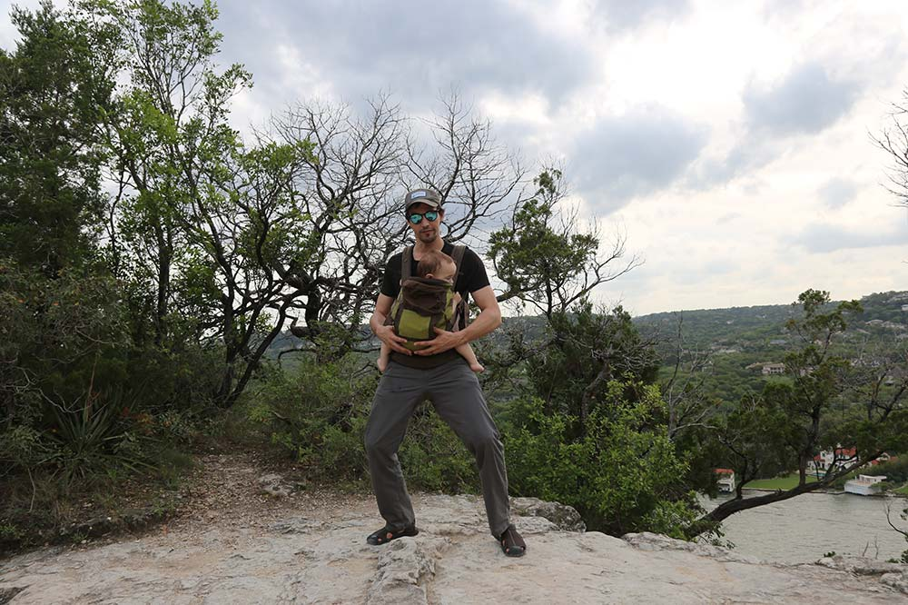 Dancing at Mount Bonnell with my son
