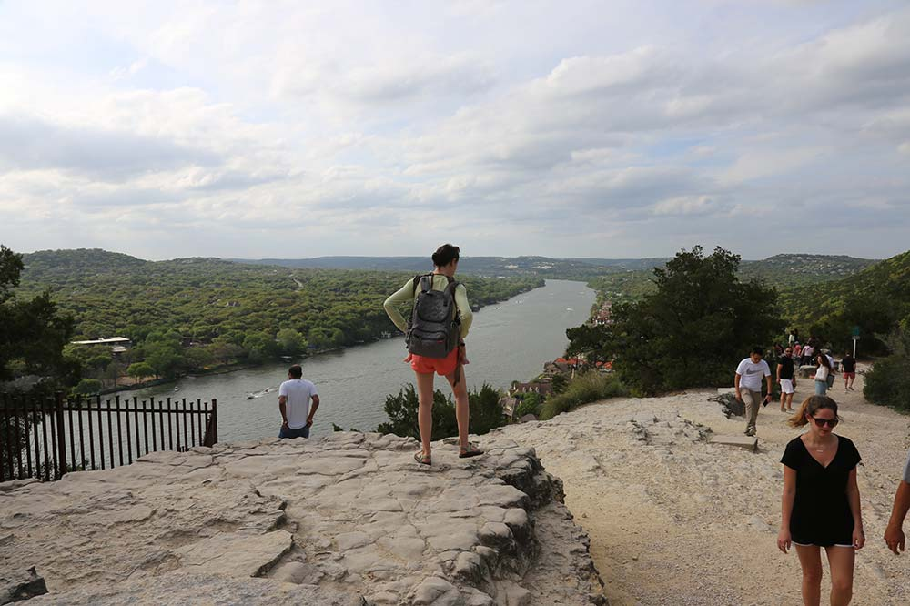 Mount Bonnell overlooking cliff great place for photography