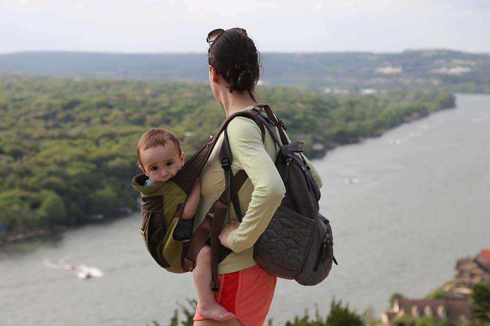 Mount Bonnell with my family; beautiful wife Isabelle and Andoni our baby boy
