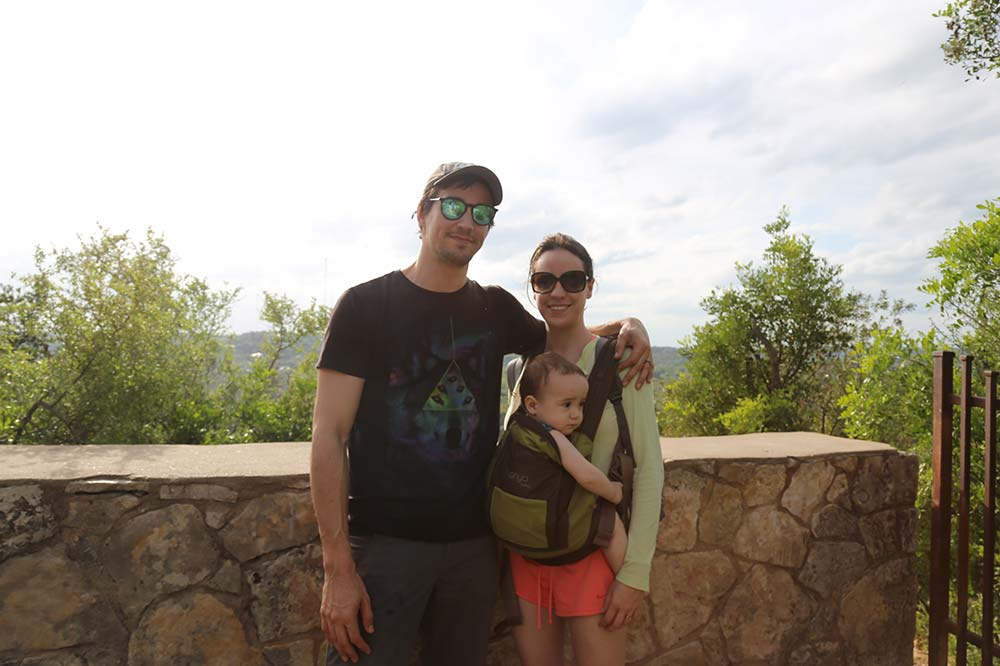 Tyler Garrett with his amazing Family at Mount Bonnell!